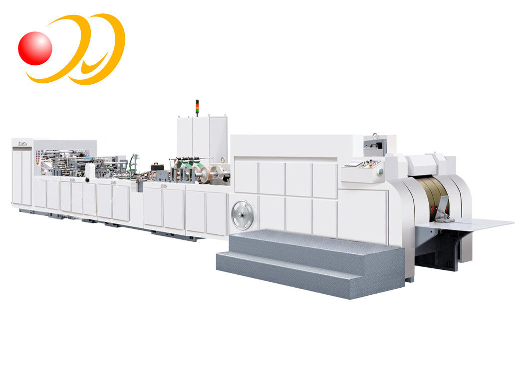 Line Imposing Hand Bag Making Machine , Automatic Paper Shopping Bag Making Machine