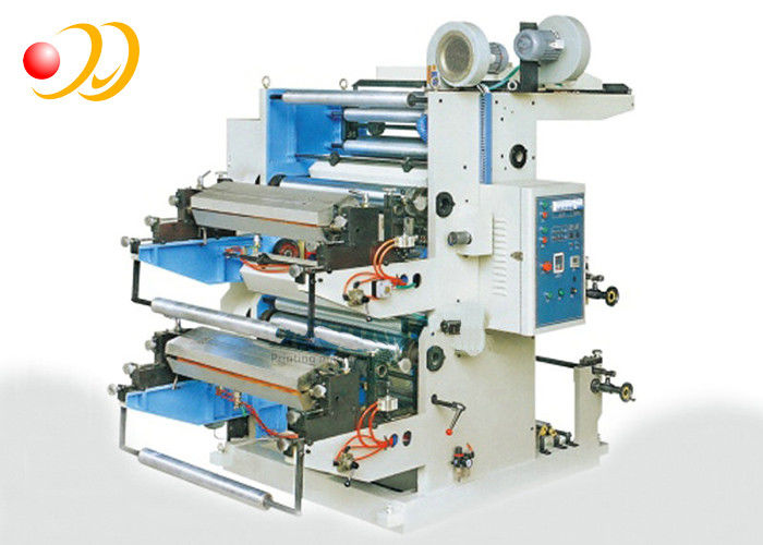 Roll To Roll Label Sticker Flexo Printing Machine Two - Color